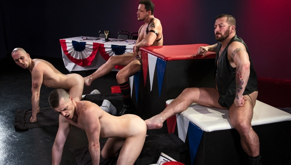 Hugh Hunter Axel Abysse Joey D Sam Syron in World Series of Fisting - ClubInfernoDungeon free gay porn love