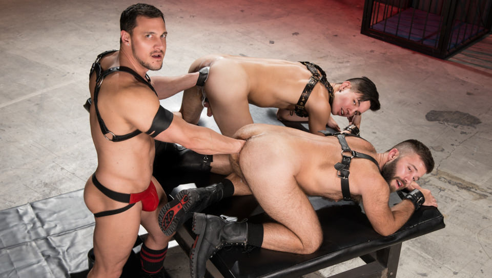 Gage Lennox Joey D Issac Lin in Deep Hole Dungeon - ClubInfernoDungeon Public peeing pussy with cock