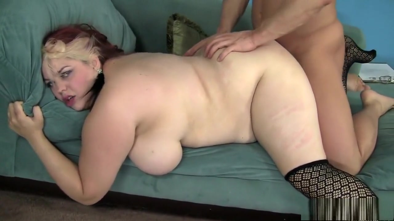 Luscious redhead plumper in stockings gets pounded by a muscled stud full free milf moves