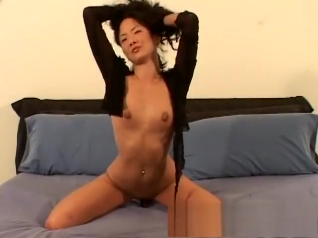 Tiffany takes off her panties so she can shove in her pink dildo