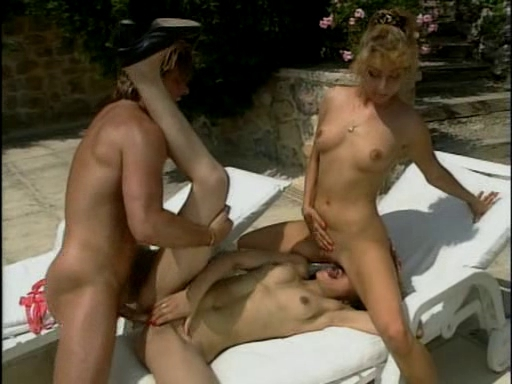 two Astounding German Strumpets Take It In The A-Hole By The Pool Milf fun