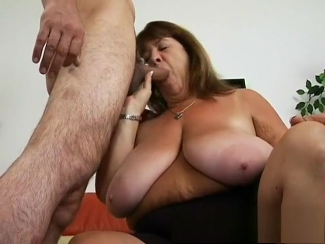 Hefty mature with huge knockers blows and gets her old twat tapped Accidental nudity sleeping