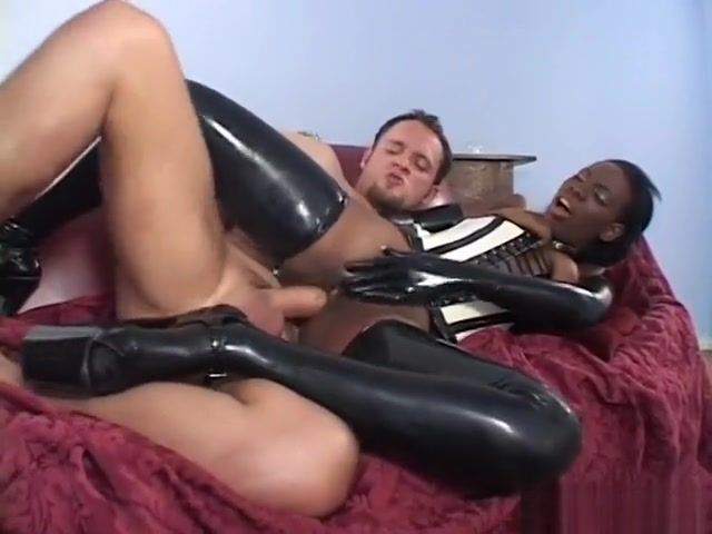 Lady Armani wears her latex to get hardcore fucked by a white dude Women seeking sex in Switzerland