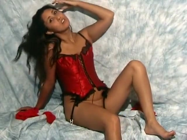 Hot Mikayla gets off on being filmed while taking off her sexy red corset