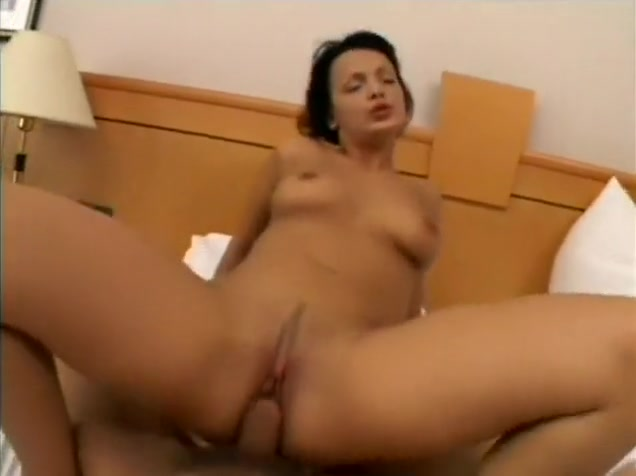 Dirty European babe lies on the bed to get her twat and her ass drilled rough in POV