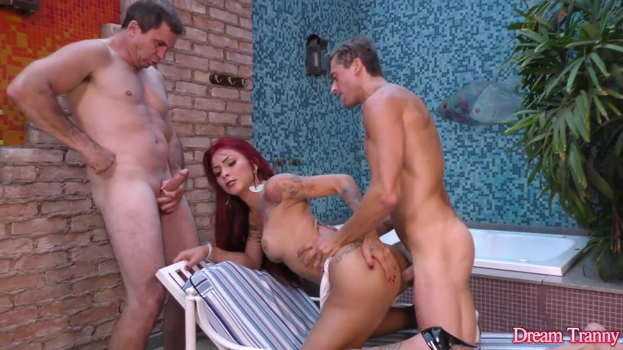 Two Guys Tag Team Transsexual Redhead Nicolly Pantoja in the Mouth and Asshole punjabi 18 pictures porn