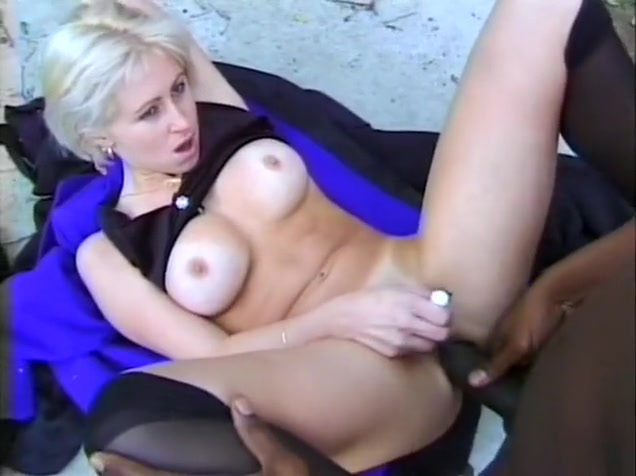 Stunning blonde gets her tight ass fucked hard by a black stud outside International speed dating budapest