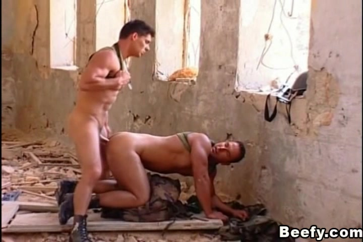 Hardcore sex of military buddies on ruined building. free porn tube movies party