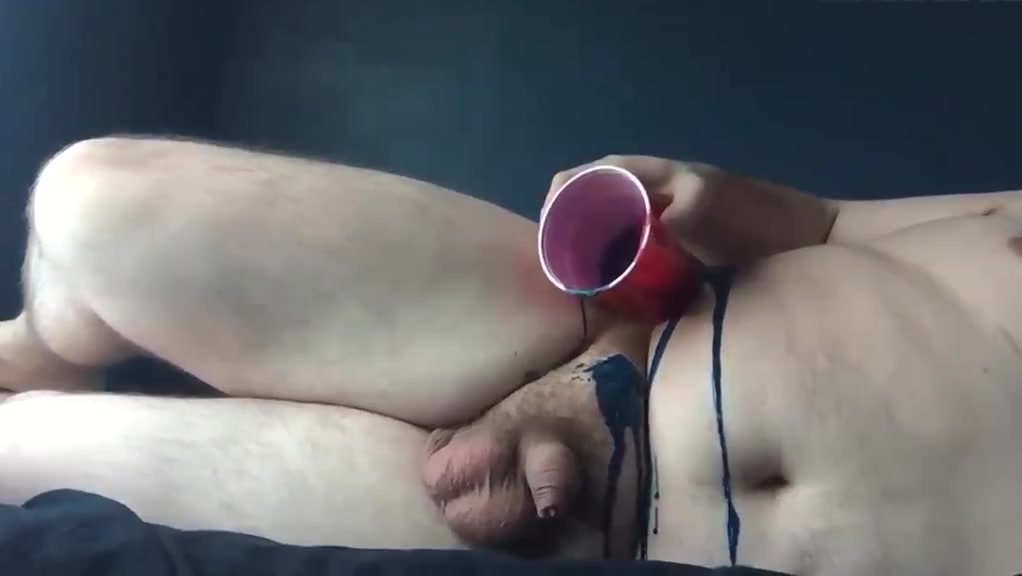 Fleshy guy wanks his small uncut to climax hot xxx plus size porn