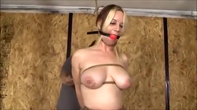 Hard tied Tits - Bondage Foundation for mature dry skin