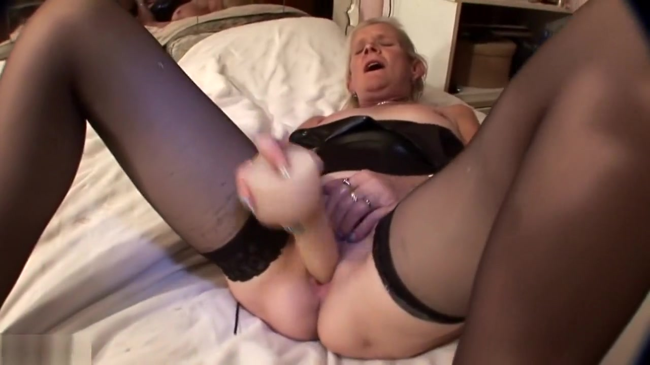 Blonde mature masturbates on a bed. pca facial chemical peels