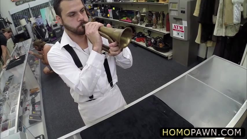 Absolutely straight guy goes gay in the shop and gets anal reamed Swedish blonde big tits