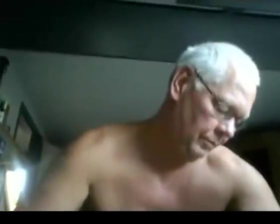 Grandpa naked gym Blowjob cumshot on face