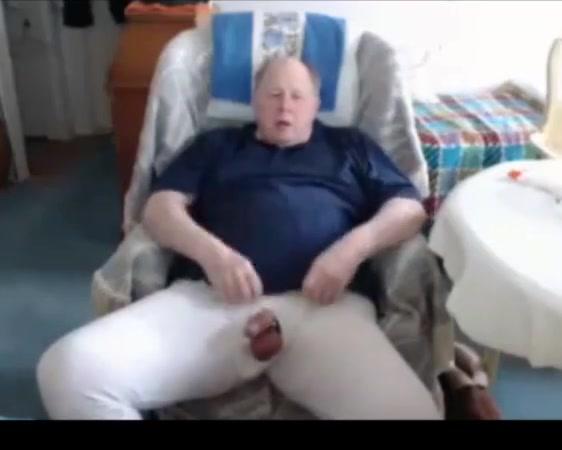 Grandpa cum on webcam 2 Cum on her black ass
