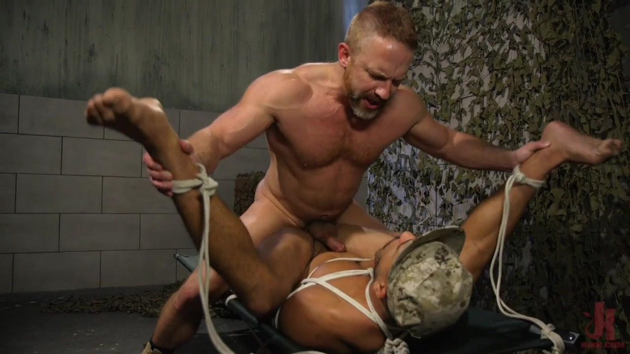 Mike Maverick,Dirk Caber in Lazy Soldier Gets Humiliated, Punished, Fucked - BoundGods free sex video oral