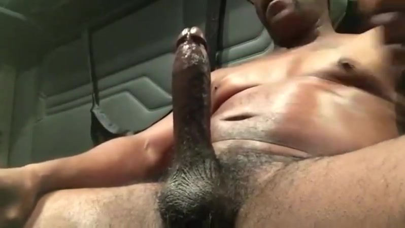 Big dick verbal black trucker jerks off cums Junior high slut