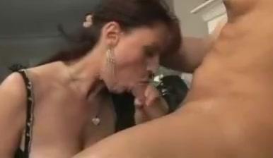 Saggy tits granny fucks junior guy stockings