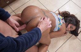 Kiki Minaj in Cheating Busty Ebony Stepdaughter - PureXXXFilms girl getting nude on bike