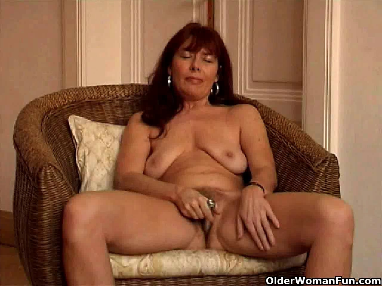 Saggy granny Sara works her bushy love tunnel with a sex-toy Erik brynjolfsson wife sexual dysfunction