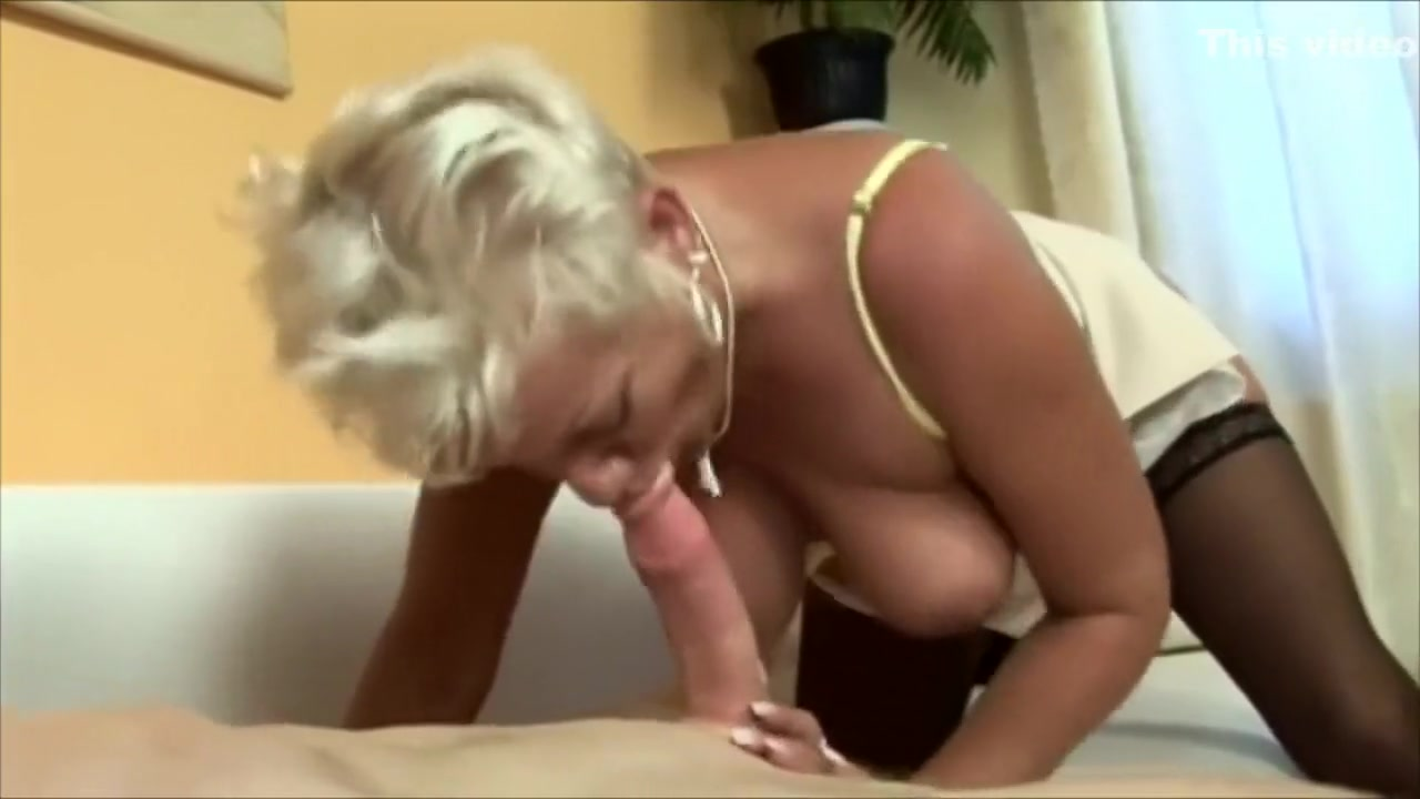 Blonde Granny in Stockings FROM SEXDATEMILF.COM Arouses the Mechanic Hot sexy girls tights x sex
