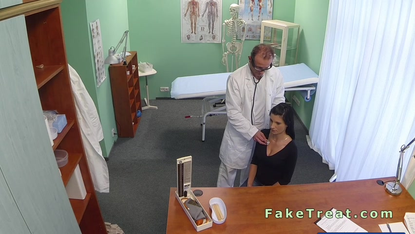 Doctor fucks beautiful busty patient in an office Sexy horny talk