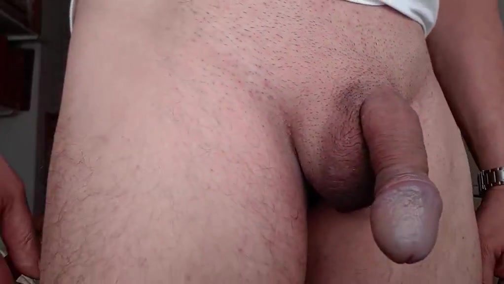 Playing with my cock 3 Floppy Dangling Swinging Tits