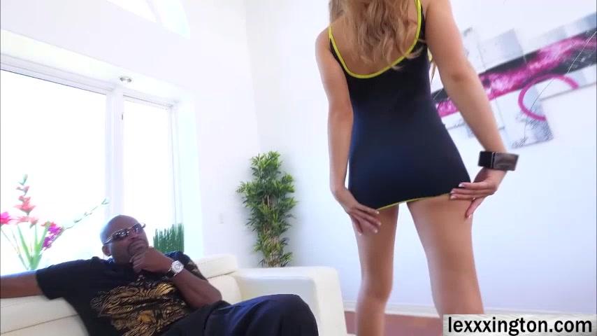 Latina Moka Mora gives a bbc some slobbery blowjob Cock shemale wet