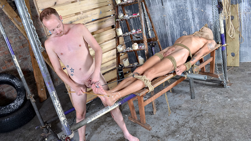 Woot Wanking With A Tied Up Boy - Xavier Sibley Sean Taylor - Boynapped Carmen Caliente and Tasha Reigh have fun