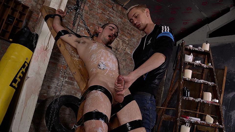 Strapped Down, Flogged Wanked Off - Michael Wyatt Ashton Bradley - Boynapped backroom casting couch nikki