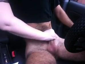 Car handjob Handjob kissing no sex