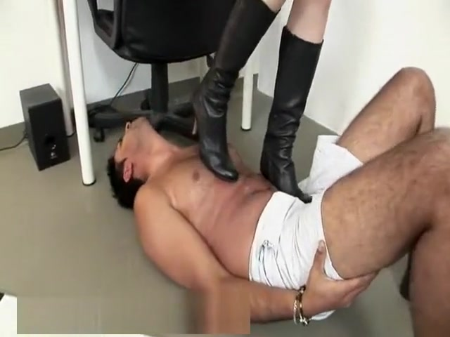 German Femdom Boots Andi pink spreading her pussy