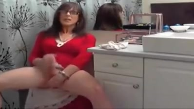 Crossdresser solo in red dress Hookup and commissioning process