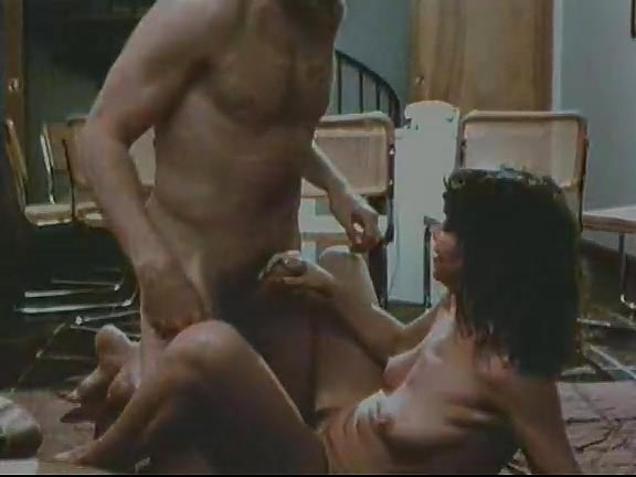 Veronica Hart, Lisa De Leeuw, John Alderman in classic porn movie tied guy fucking girl
