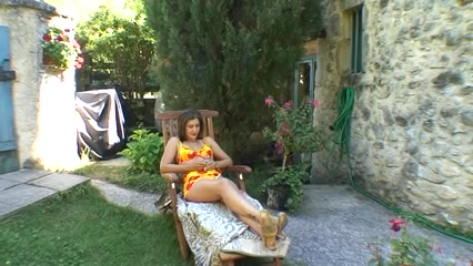 French Milf Fucked and Fisted in her garden Cum in mouth mature sluts xxx