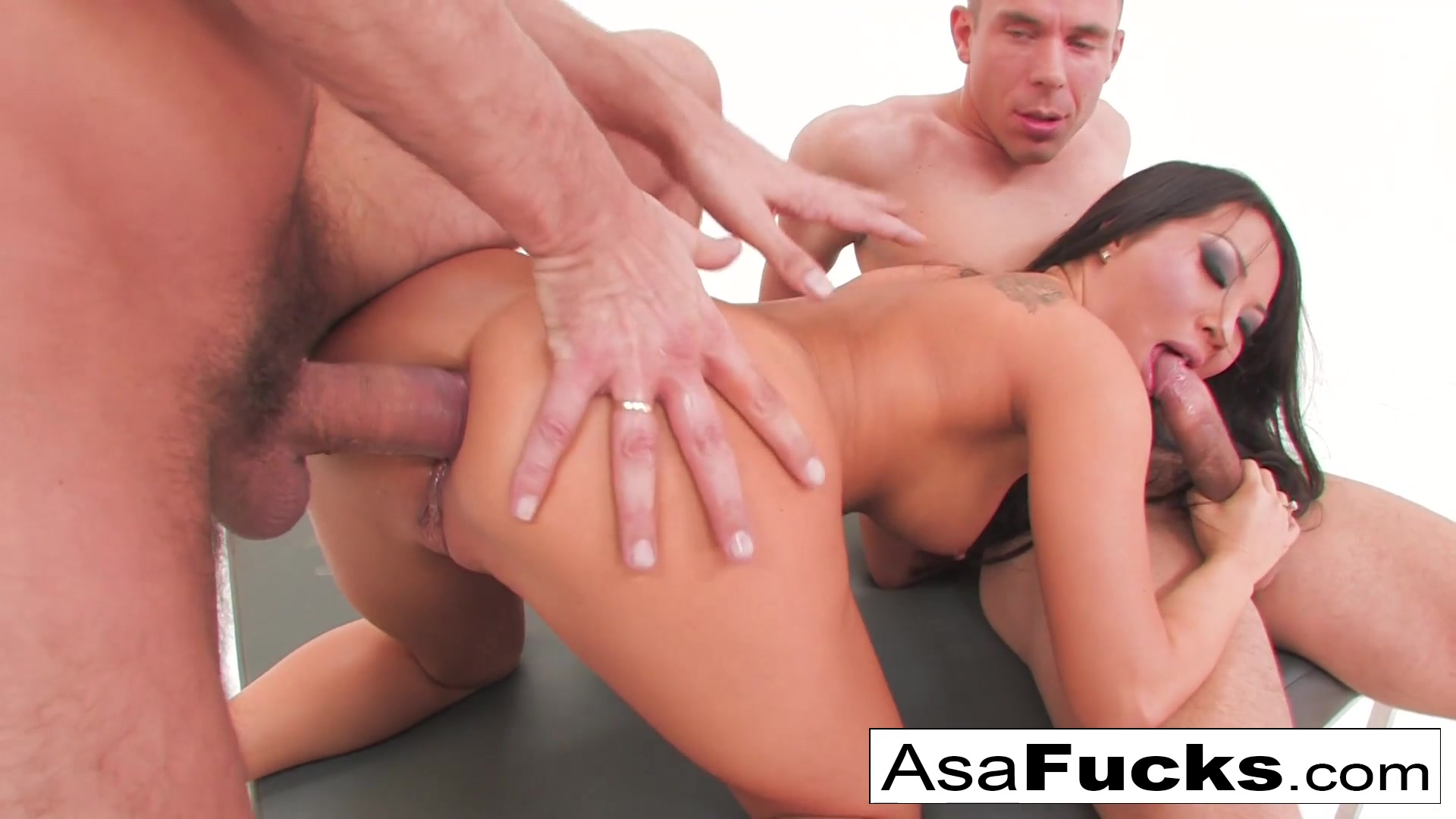 Asa Akira in Asas Double Anal And Double Penetration - AsaAkira Forced to give head porn