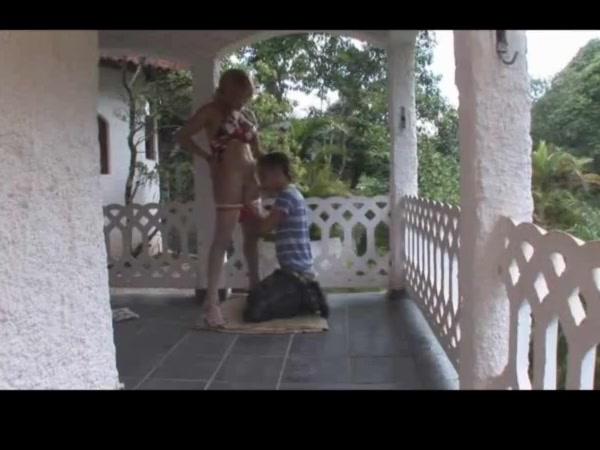 Sexy Adryella fucks guy on the porch hot thick ass fuck viddeos free