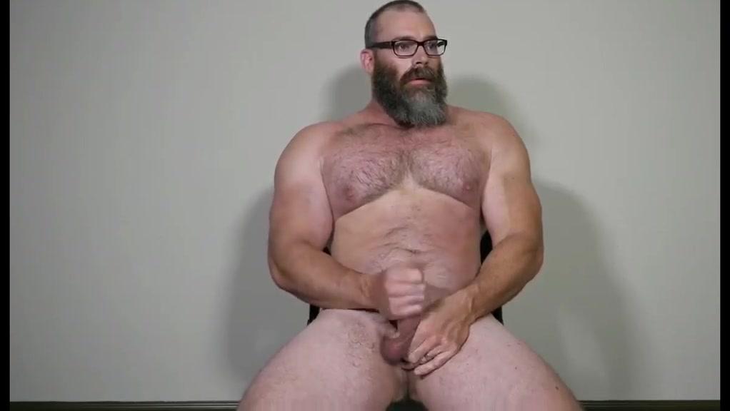 Muscle Daddy Rick Flex Jerk Off Cum Porn On Kitchen