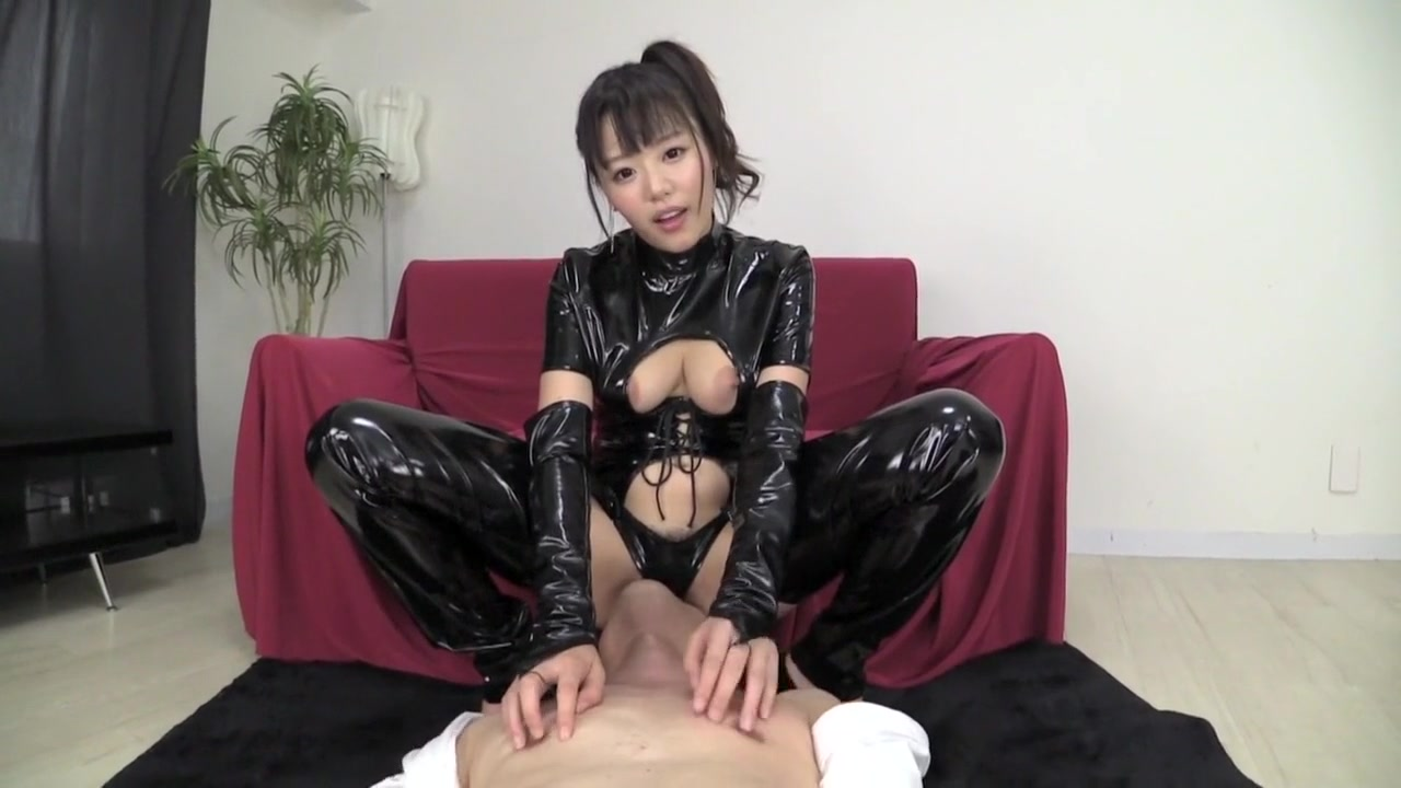 Free porn best japanese chick akiho yoshizawa in incredible latex, solo girl jav picture