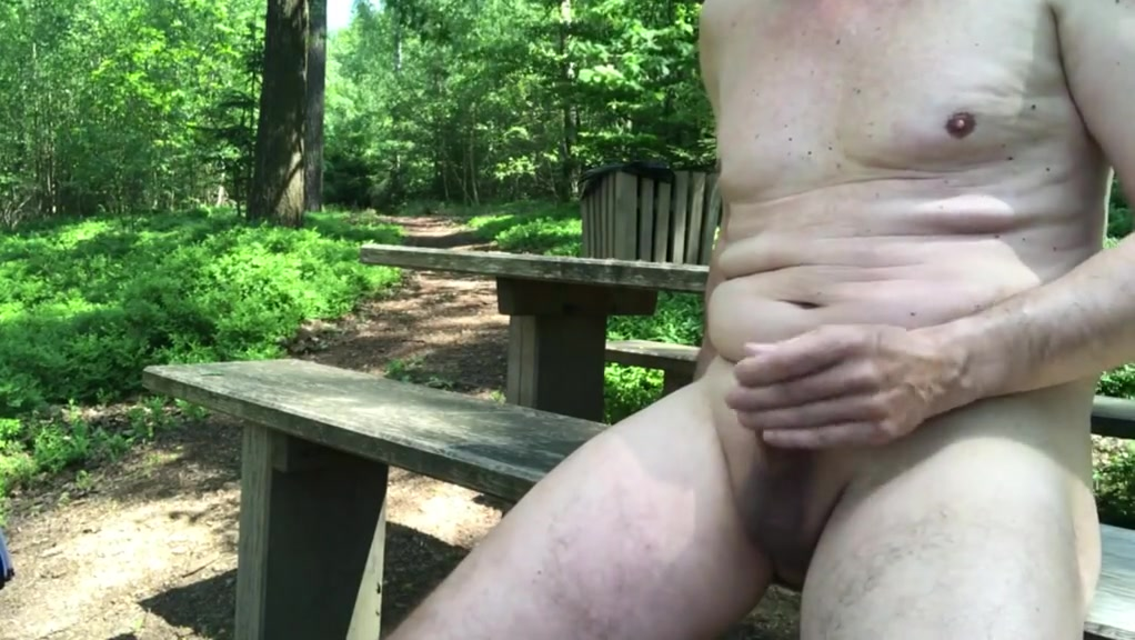 Naked at the forest rest area Amateur Orgasm While Fucking