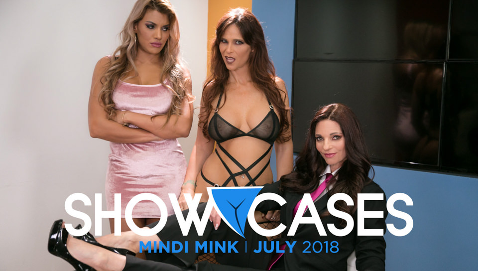 Syren De Mer & Mercedes Carrera in Showcases: Mindi Mink - 2 Scenes in 1, Scene #01 - GirlsWay Wifes shaved suck dick and fuck