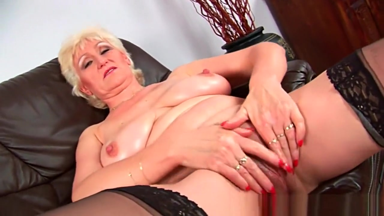 Granny with big tits finger fucks her sweet matured pussy Brother and sister sex video hd