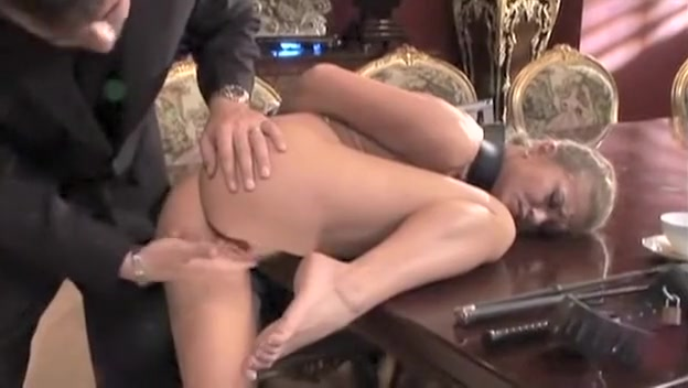 Rita Faltoyano in bondage for anal servicing