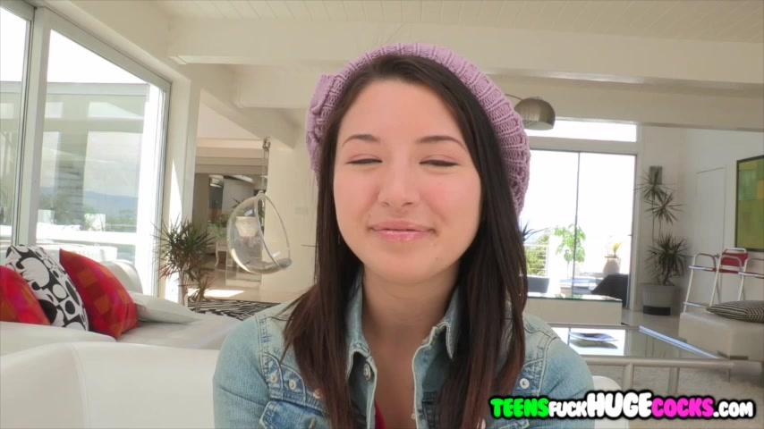 Asian teen Daisy Summers get cum shower huge cock