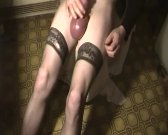Big balls, pumped cock, tranny, stockings 2 homemade instruments with notes