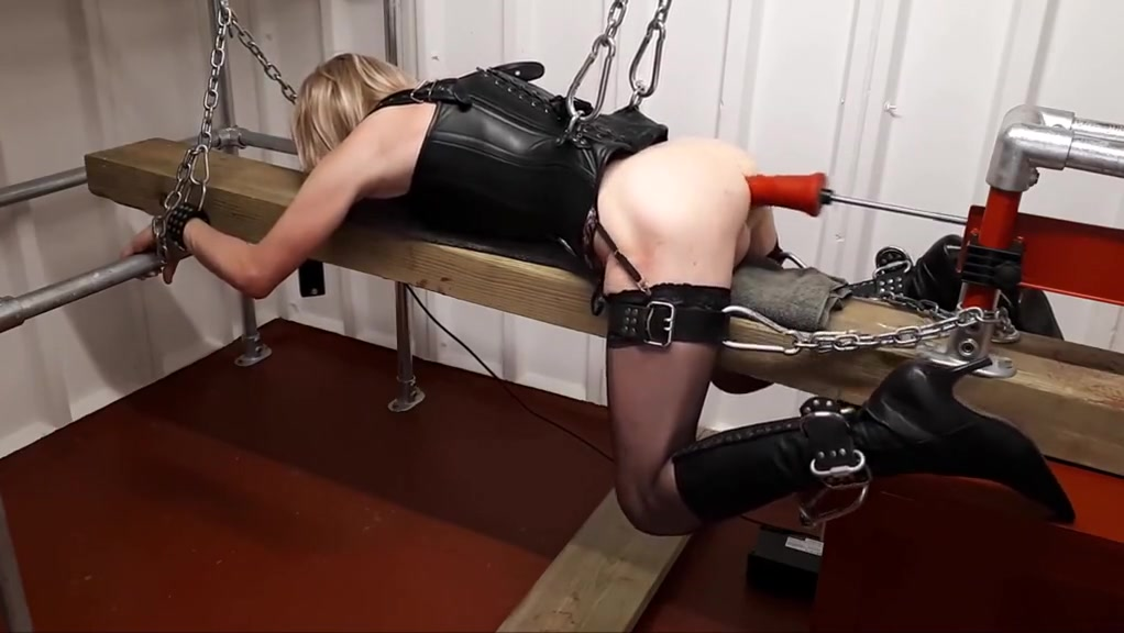 RachelSexyMaid - No.16 - Chained Slave Dungeon Punishment Jack hammer dildo