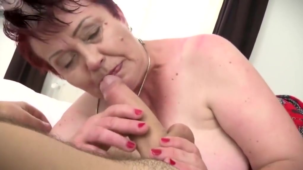 BBW hairy granny love junior cock
