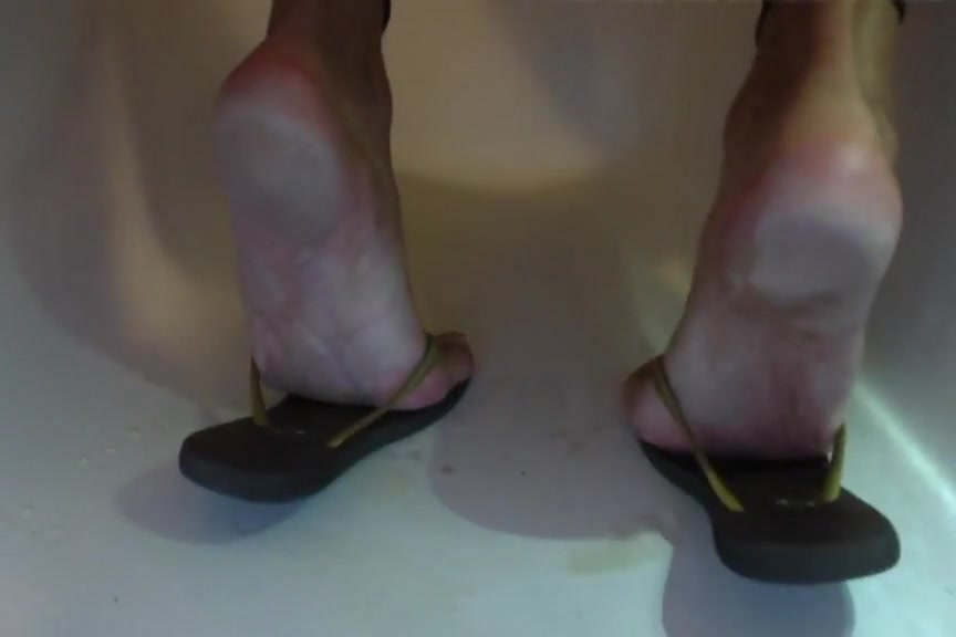 Piss over my soles feet & flip flops with painted toes nails Enema before or after masturbation