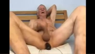 Dad playing with his uncut cock and arse What is he hiding from me