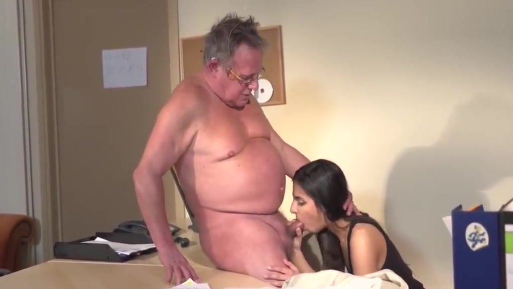 junior Girl and Old Man at the Office