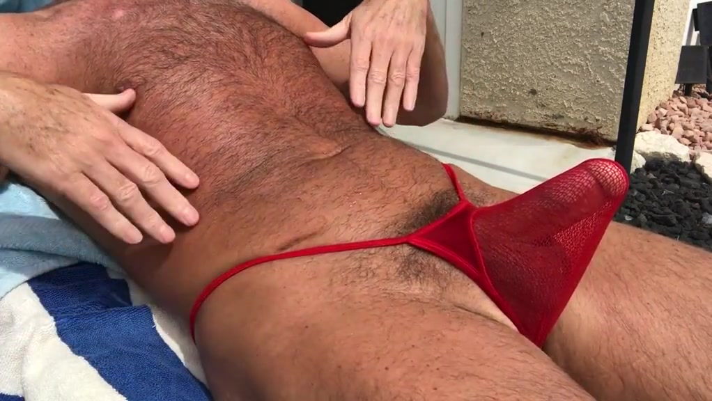 sunbathing horny hairy daddy Porn mature star